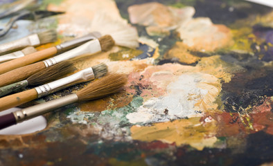 Paintbrush and Palette