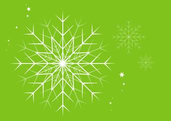 Schneekristalle Grün