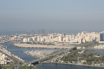 Sharjah Buheirah Corniche Birds Eye View
