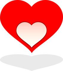 cuore rosso con buco