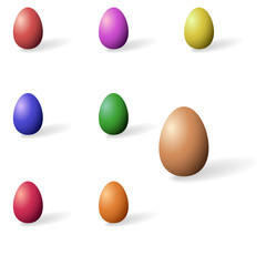 Collection of coloured easter eggs