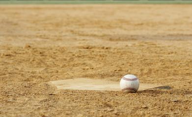 Wall Mural - baseball on field