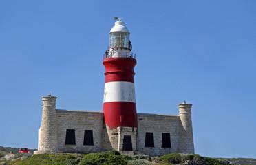 Leuchtturm am Kap Agulhas in Südafrika