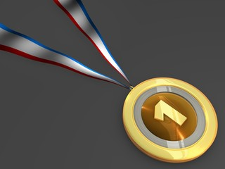 Gold medal for an award