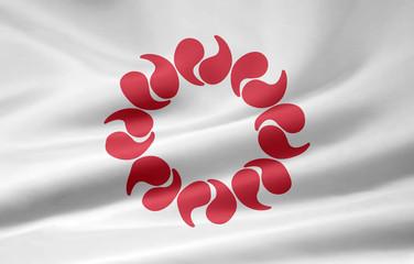 Flagge von Saitama - Japan