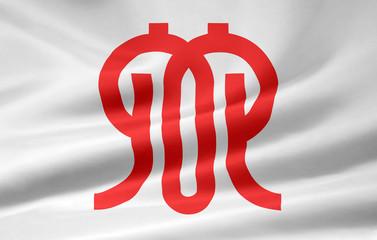 Flagge von Kanagawa - Japan