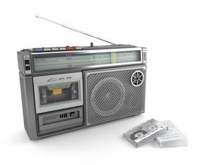 radio cassette y cinta