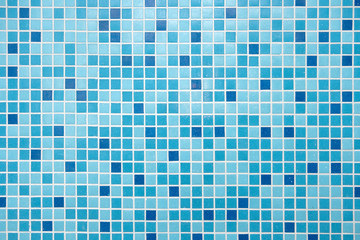 Blue Mosaic Tiles Close up