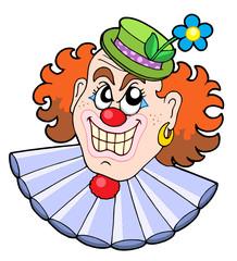 Evil clowns head