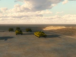 Foto op Canvas Militair Lots Of Tanks 4