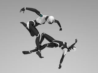 cyborg females fighting