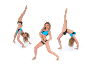 Girl practicing fitness