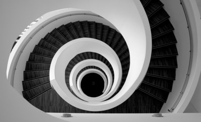 Modern spiral stairs detail