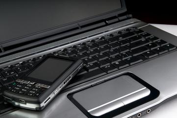 telephone on laptop