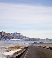 Photo sur Aluminium Pôle Desert Highway in Winter