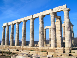 Temple of Poseidon near Athens, Greece.