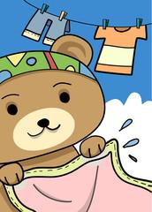 washing-bear
