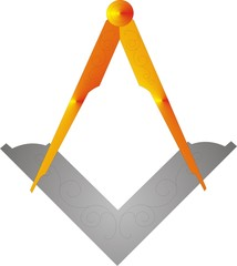 Masonic square & Compasses