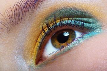 green-yellow makeup