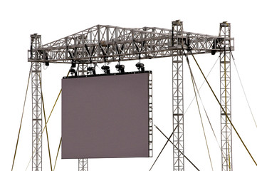 Printed roller blinds Stadion Gigantic Outdoor Screen Isolated on White
