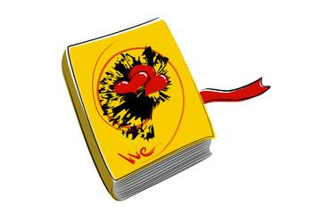 Libro giallo innamorati