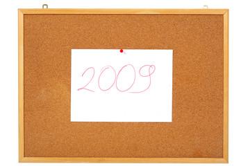 notice board 2009 year