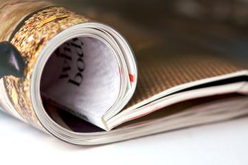 a folded magazine