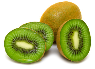 kiwi fruit on a white