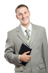 young adult smiling businessman