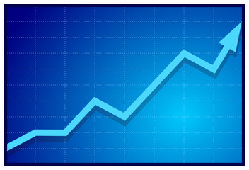 Obraz Business graph A1 - vector - fototapety do salonu