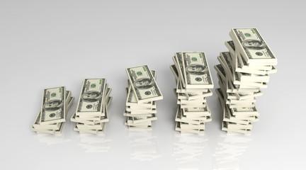 Wachsender Profit - Dollar