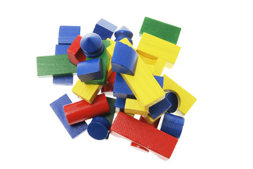 Pile of Wooden Building Blocks