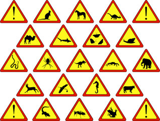 Animal warning signs