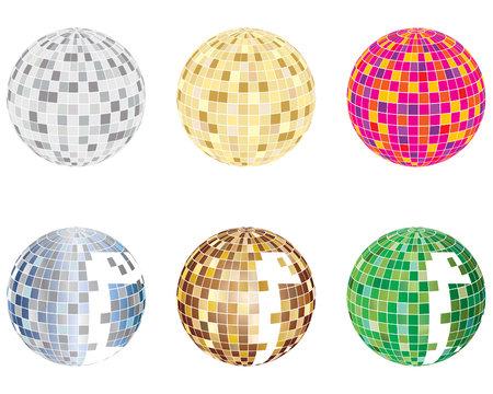 set of disco spheres