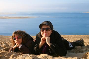 heureuses au sommet de la dune du Pilat