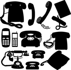 phone vector silhouettes
