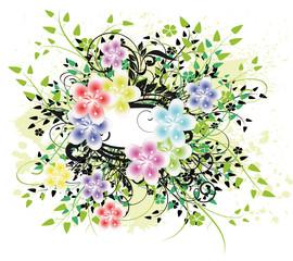 floral multicouleurs cadre