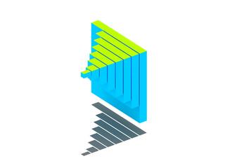 3D Business Chart.