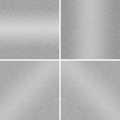 Matt aluminium (aluminum) pattern set.