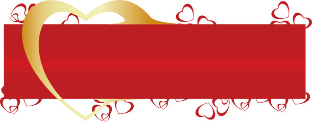 Vector. Heart ornament background. Valentine's day