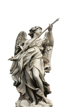 "angel on the bridge ""Ponte Sant Angelo"" in Rome, Italy"