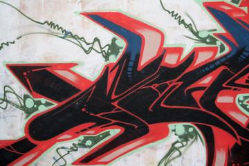 GRAFFITI DETALLE FIRMA. ARTE URBANO