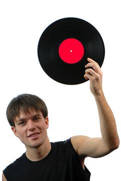 men and vinylic disk