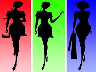 Three trendy females