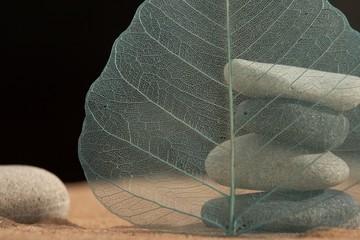 Photo sur Plexiglas Zen pierres a sable zen-like