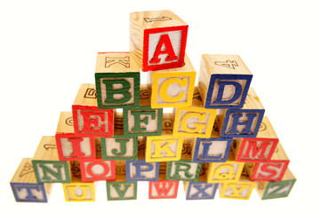 Alphabet learning blocks