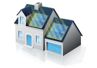 Pavillon solaire (reflet)