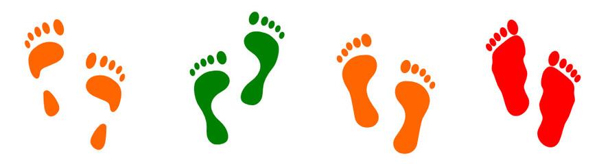 Feet (correct & wrong) - vector
