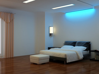 Modern interior of a bedroom