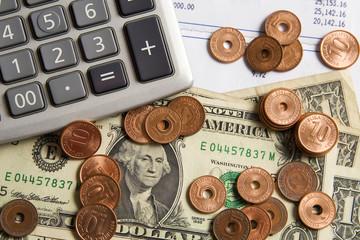 Money and Calculator Horizontal